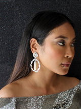 Pearl & Crystal Chandelier Earrings - Tipsyfly