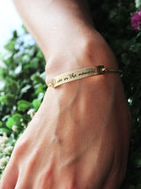 Openable Personalised mantra bangle - Tipsyfly