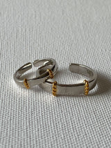 Dual tone couples rings - Tipsyfly
