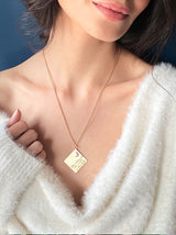 Personalised Square pop love note necklace - Tipsyfly