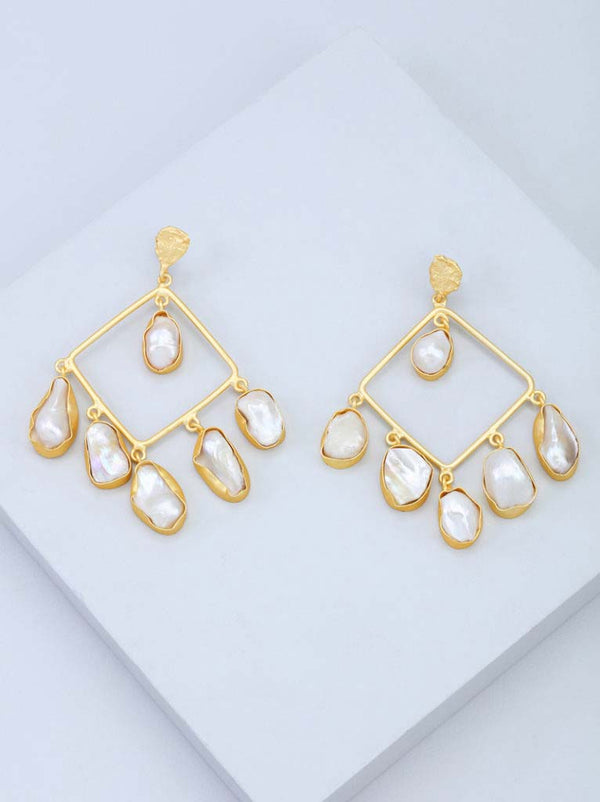 Tipsyfly Baroque Luster Earrings