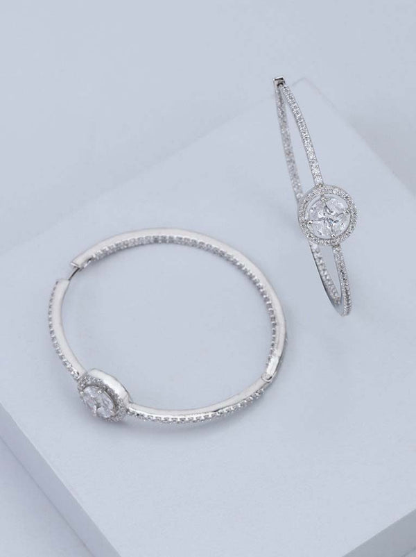 Tipsyfly Diamond encrusted hoops