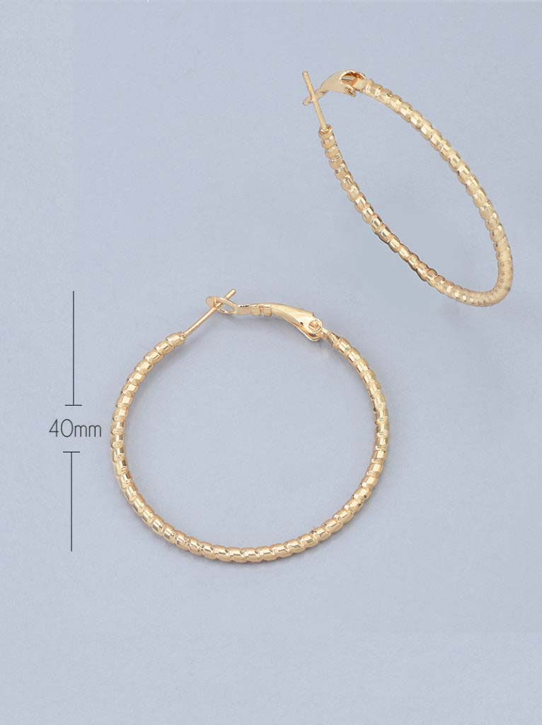Tipsyfly Ridged Hoops Small (40mm) - Tipsyfly