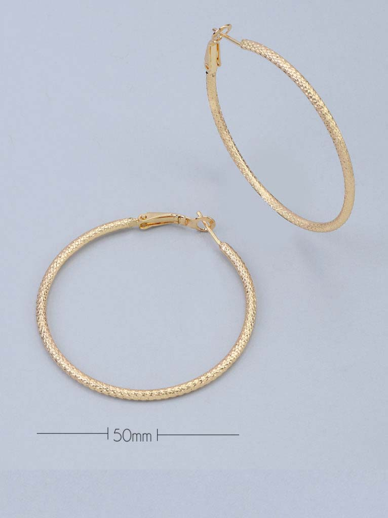Tipsyfly Textured Hoops Medium (50mm)