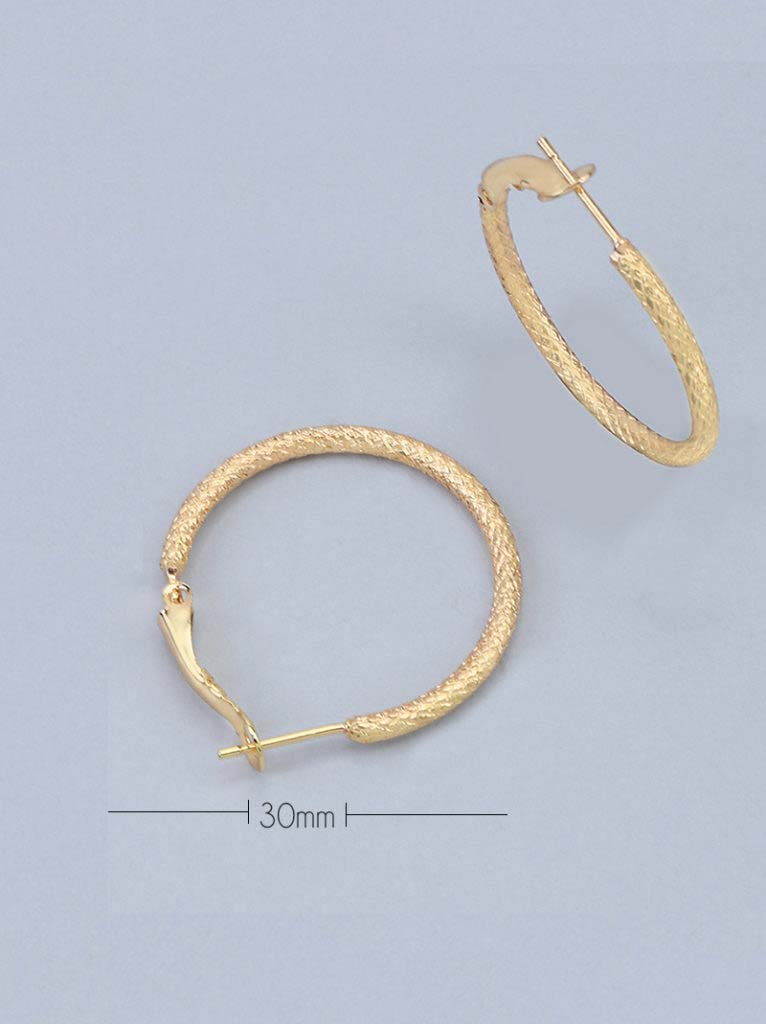 Tipsyfly Textured Hoops XSmall (30mm)