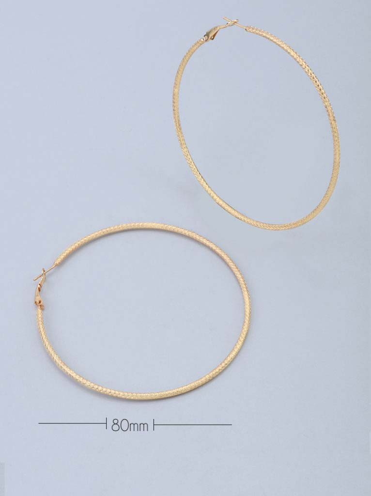 Tipsyfly Textured Hoops XXLarge (80mm) - Tipsyfly