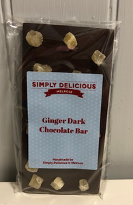 Dark Chocolate Bar with Ginger (100g)