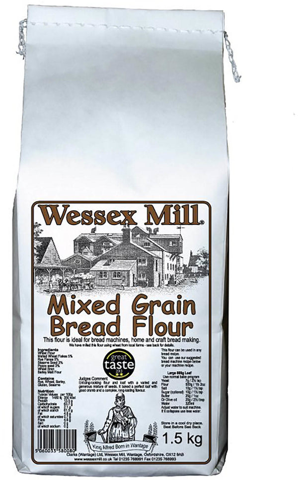 Mixed Grain Bread Flour  (1.5kg) - Wessex Mill