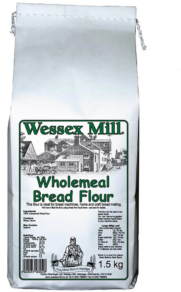 Wholemeal Bread Flour (1.5kg) - Wessex Mill