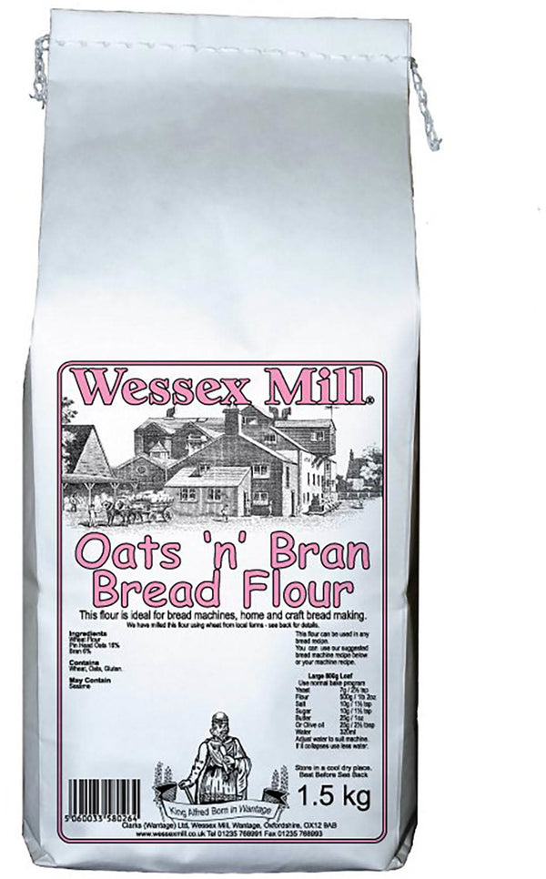 Oats & Bran Bread Flour  (1.5kg) - Wessex Mill