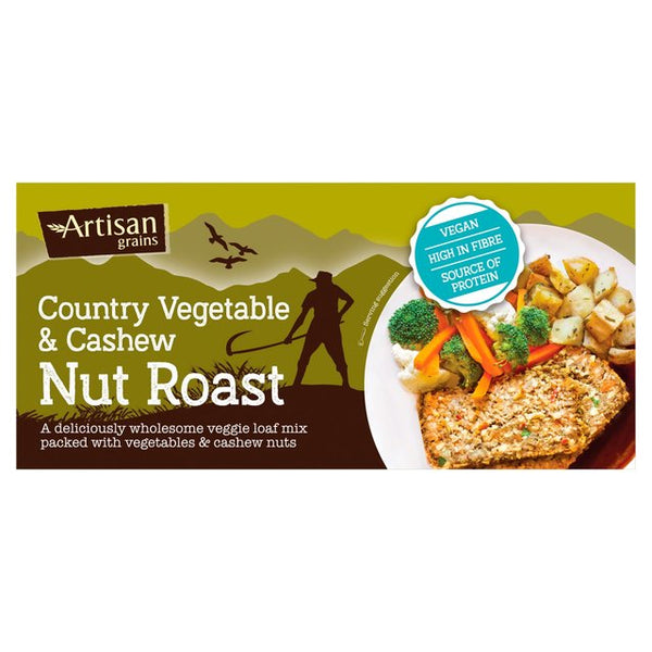Country Vegetable Cashew Nut Roast (200g) - Artisan Grains