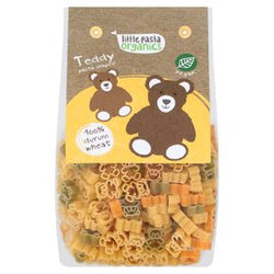 Tricoloured Teddy Bear Shaped Pasta (250g) - Little Pasta Organics
