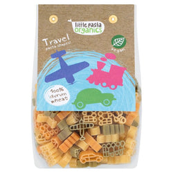 Tricoloured Travel Shaped Pasta (250g) - Little Pasta Organics