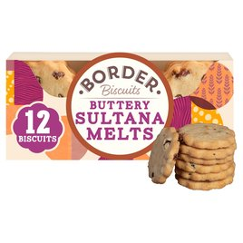 Buttery Sultana Melts 135g - Border Biscuits