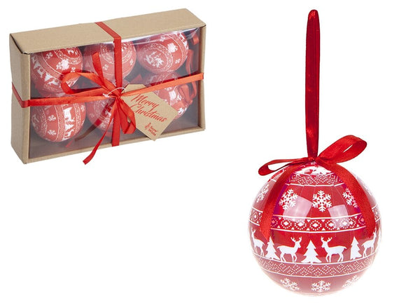 75mm Polyfoam Baubles in Craft- Set of 6