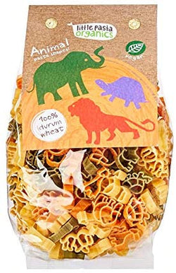 Tricoloured Animal Shaped Pasta (250g) - Little Pasta Organics