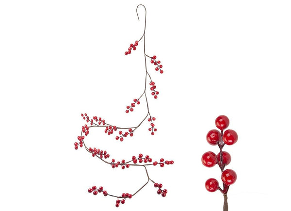 Christmas Berry Garland with Hang T- 1.5M