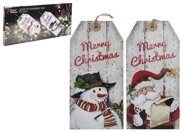 Light Up Hanging Tags in Colour- 24x50cm