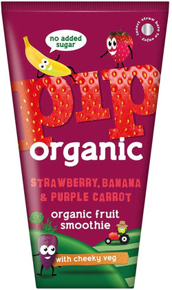 Organic Strawberry, Banana and Purple Carrot Smoothie (180ml) - PIP Organic