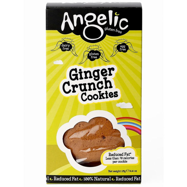 Ginger Crunch Cookies (125g) - Angelic Gluten Free