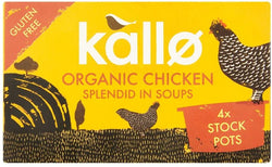 Organic Chicken Stock Pots (4 x 96g) - KALLO