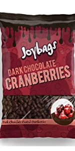 Dark Chocolate Cranberries (150g) - Joybags