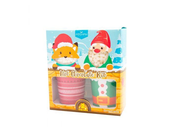 Fox & Gnome Marshmallow Hot Chocolate Gift Set - Infinity Brands - Poshpin (180g)