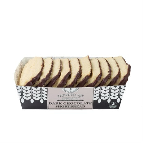 Half Coated Chocolate Shortbread Fingers (150g) - Farmhouse