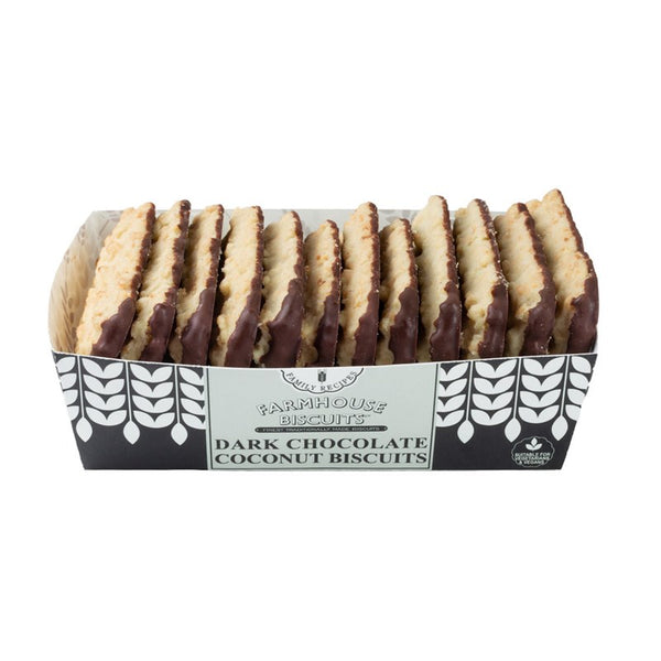 Dark Chocolate Coconut Biscuits (150g) - Farmhouse