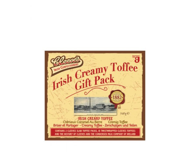 Irish Creamy Toffee Gift Pack - Hadji Bey's - Cleeves (240g)