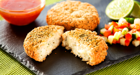 Smoked Haddock Mozzarella Spring Onion Fish Cake - Field Fare - Frozen