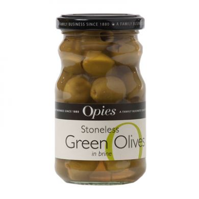 Stoneless Green Olives (227g) - Opie's