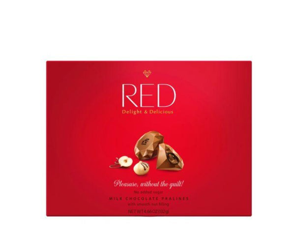 Milk Chocolate Pralines with Nut Filling - Red (132g)