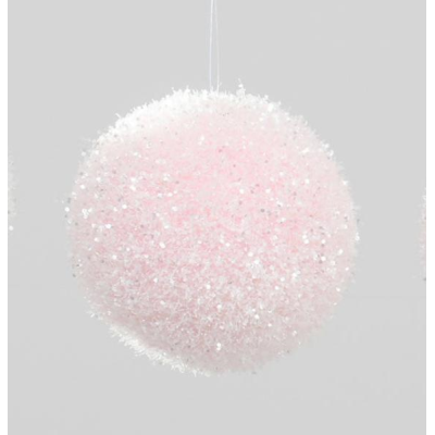 Hanging Ball Dec Pink- 100mm