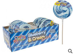 Blueberry Swirl Candy Lollipop on Wood Stick