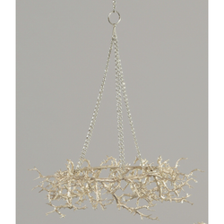 Champagne Twig Wreath w/chain - 40cm