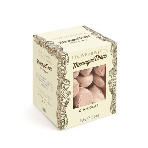Chocolate Meringue Drops 100g - FLOWER & WHITE