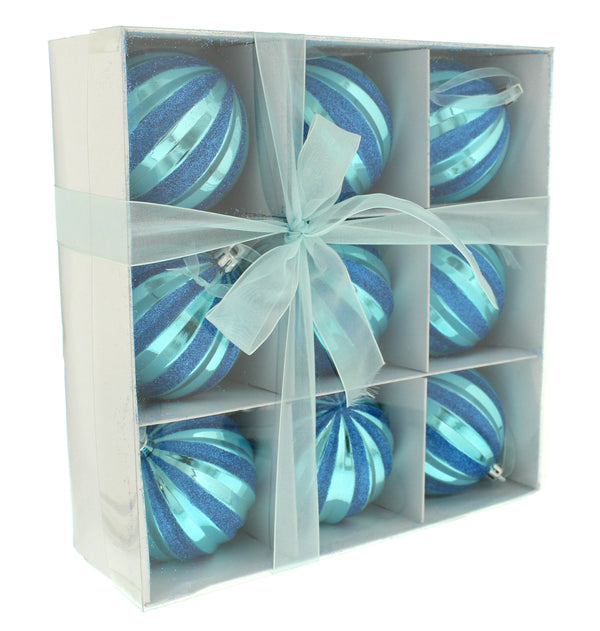 Segment Ball - Shiny Blue Label - 9 x 8cm