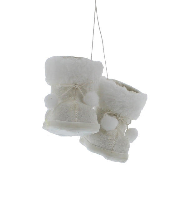 White Hanging Boots Tag - 11cm