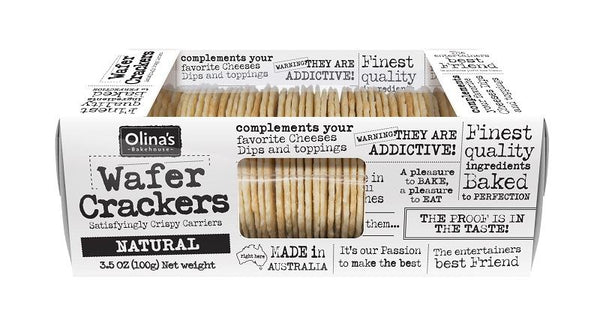 Natural - Wafer Crackers 100g - OLINA'S BAKEHOUSE
