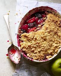 Bramley Apple & Blackberry Crumble (Serves 2) - Cook