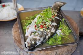 Thai Steamed Sea Bass (Serves 1) - Cook
