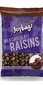 Milk Chocolate Raisins (150g) - Joybags