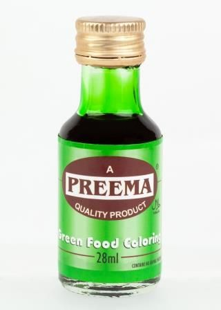 Green Food Colouring (28ml) - Preema