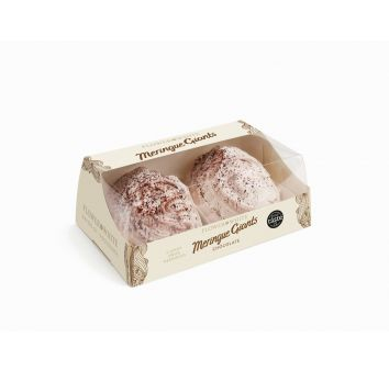 2 Giant Swiss Chocolate Meringues 140g - FLOWER & WHITE