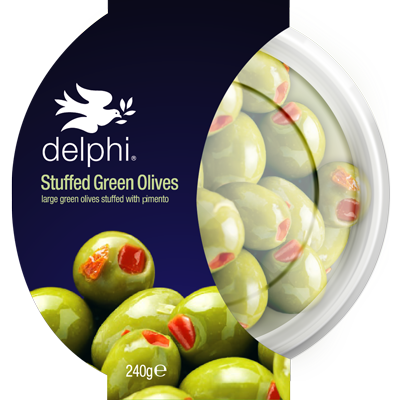 Stuffed Green Olives With Pimento - Delphi Foods