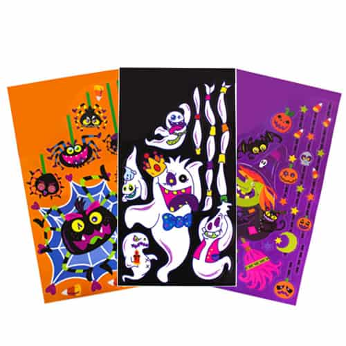 Jumbo Halloween Glitter Window Stickers