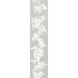 Glitter Holly Garland White- 6ft