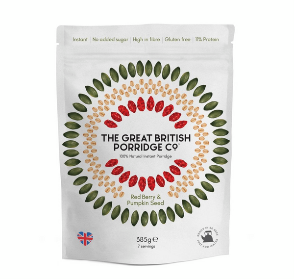 Red Berry & Pumpkin Seed (385g Box) - The Great British Porridge Co