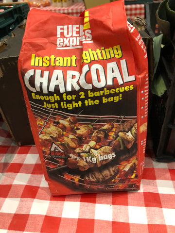 Instant Light Charcoal (2x 1kg) - Coal